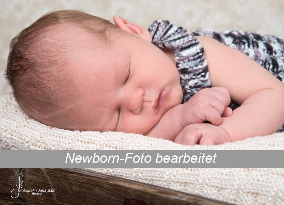 Newborn Baby Foto Beispiel bearbeitet - Foto Jana Bath