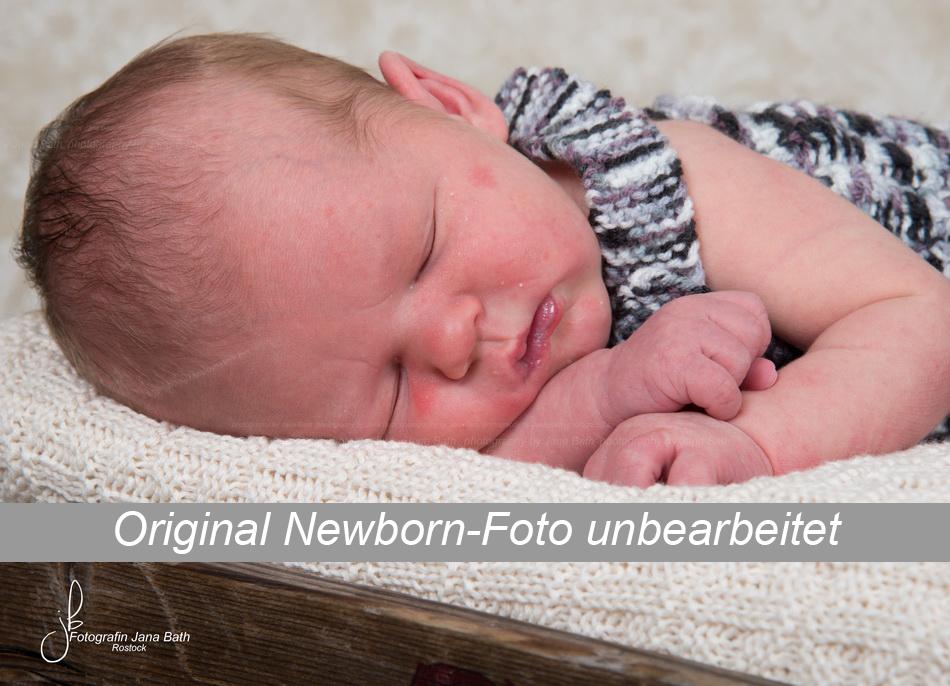 Newborn Baby Foto Beispiel unbearbeitet - Foto Jana Bath