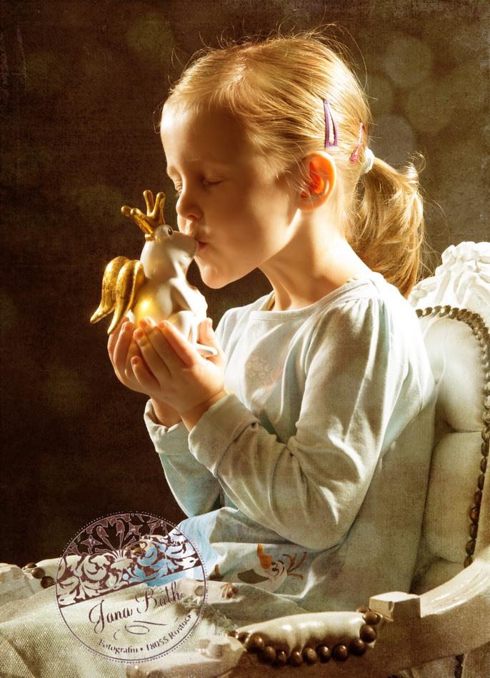 Froschkönig, Mädchen 4 Jahre alt