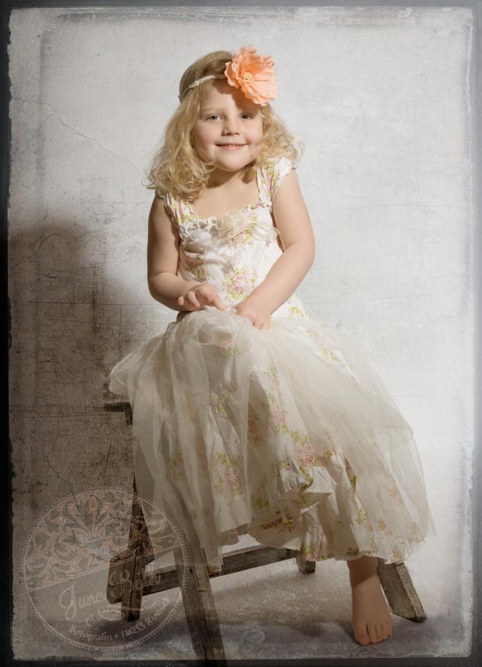 Kleines Mädchen 4 Jahre alt - Vintage portrait