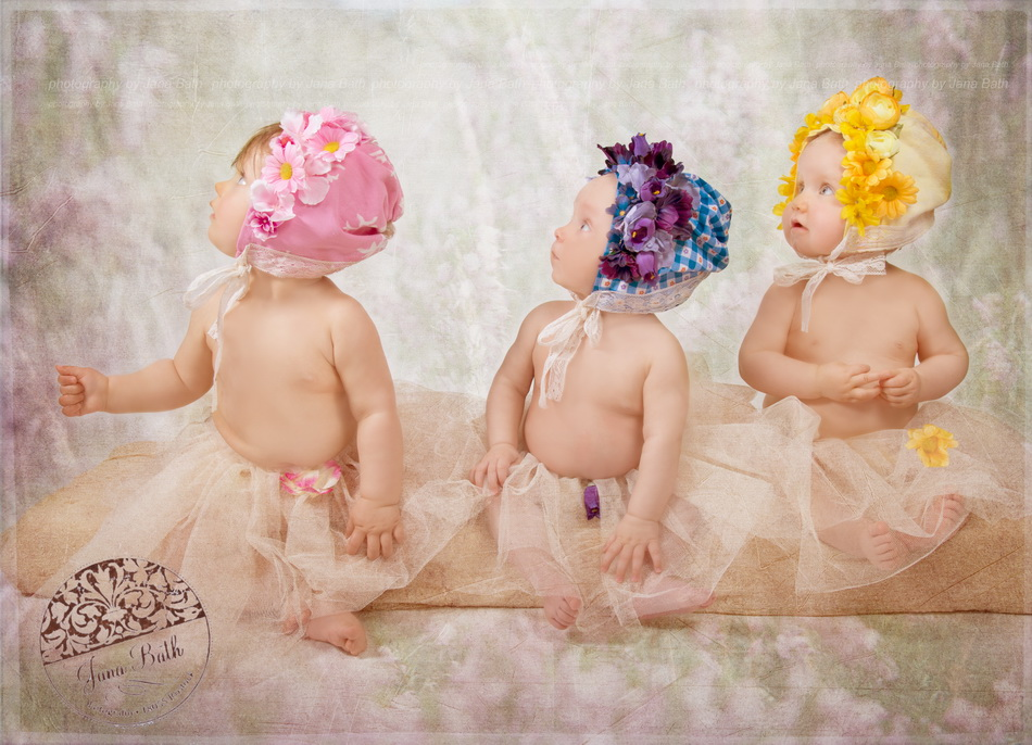 Drei Wonneproppen 6,8 und 10 Monate jung