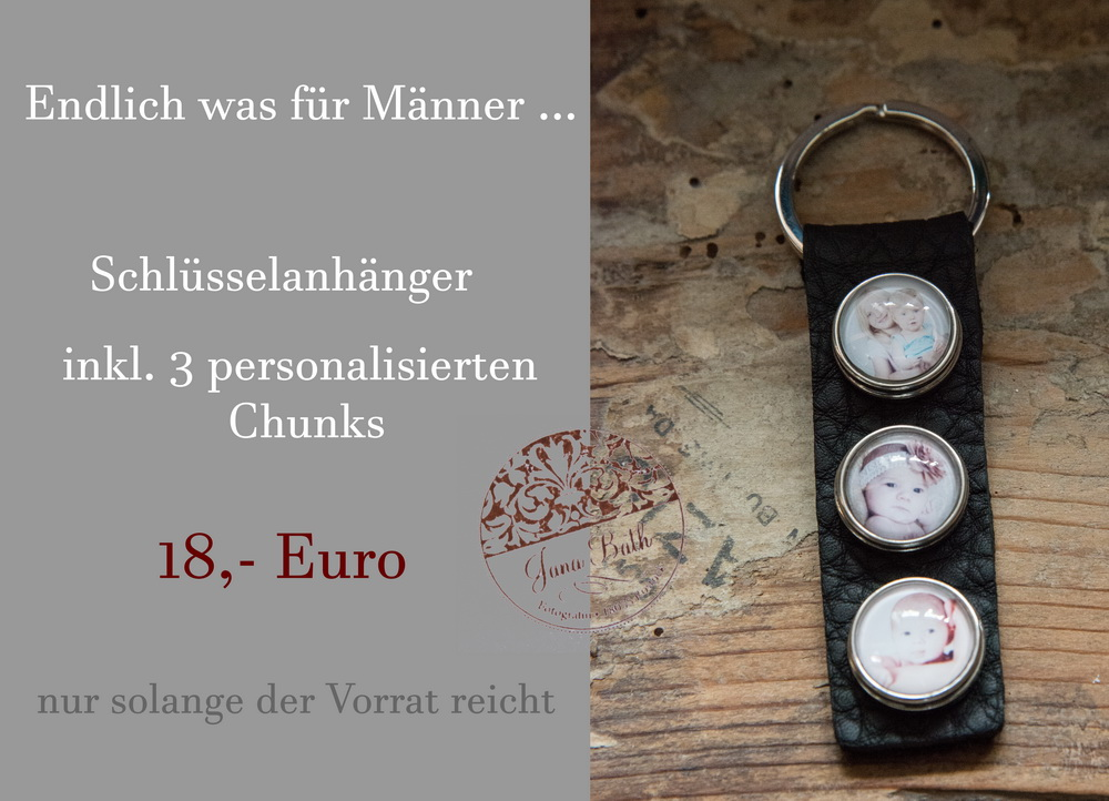 Personalisierte Schlüsselanhänger inkl. Chunks