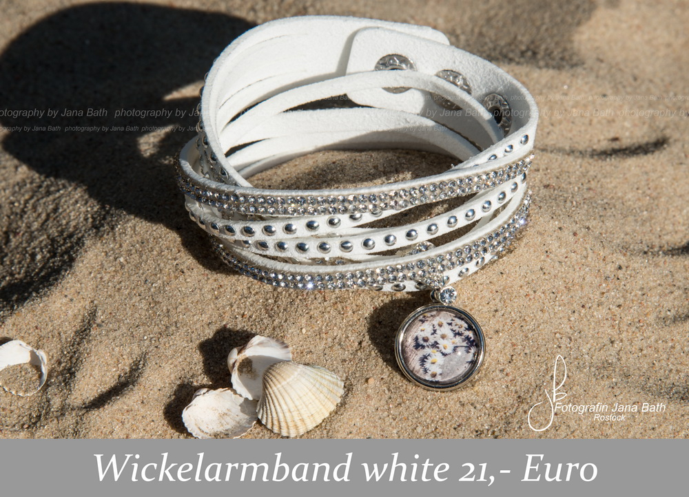 Fotoschmuck aus dem Fotostudio Jana Bath – Wickelarmand white, personalisiert
