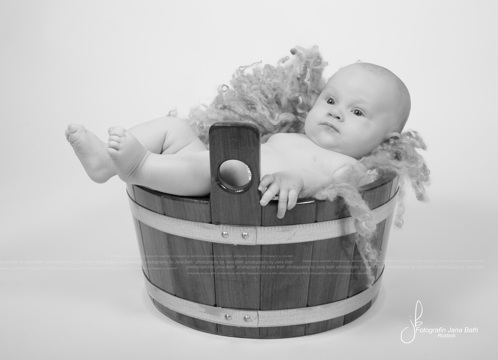 Einzelporträt Baby Boy 12 Wochen alt - Foto Jana Bath 2017