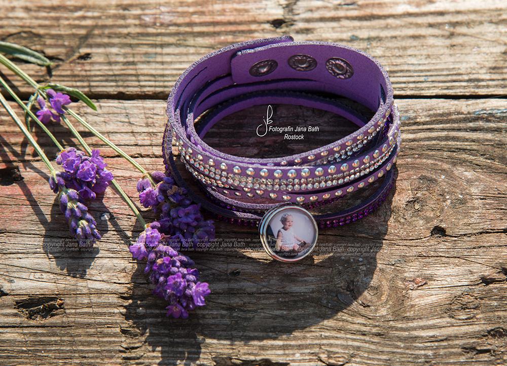 Personalisierter Schmuck - Jana Bath 2017 - Armband lila