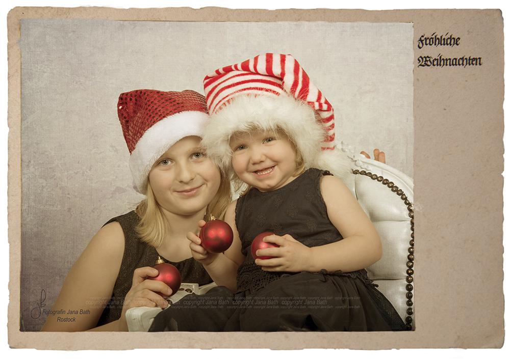 Weihnachtliches Vintage Kinderbild - Jana Bath