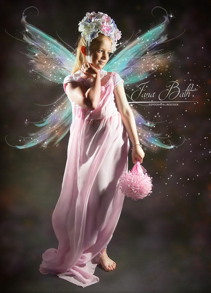 Märchenshooting, Blüten-Prinzessin mit Flügelchen