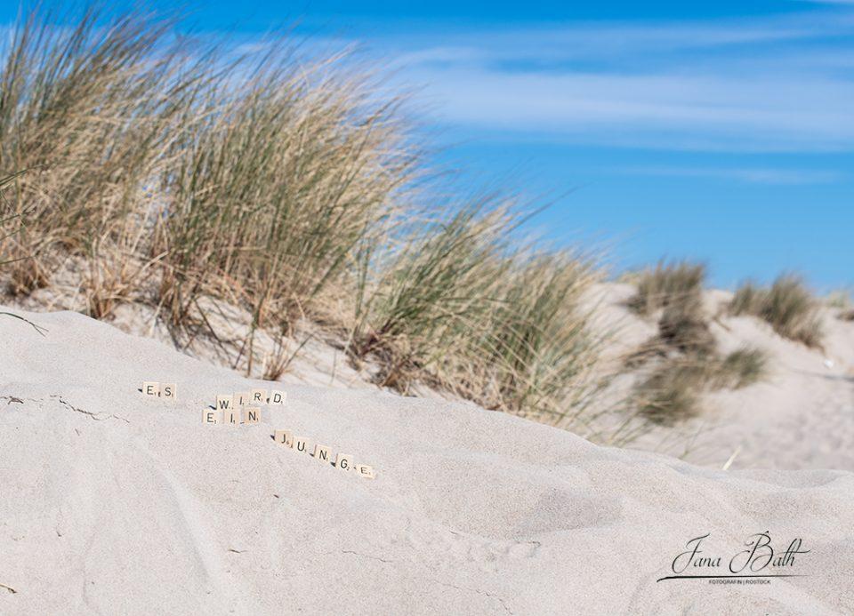 Babybauchfotos am Strand von Warnemünde, Foto Jana Bath 2020